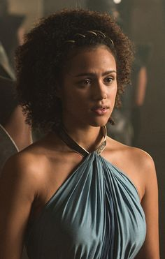 """Nathalie Emmanuel (Missandei from """"Game of Thrones"""" outtake), celebrity female actress portrait photograph. T: missnemmanuel Game Of Thrones Dress, Game Of Thrones Costumes, Game Of Thrones Characters, Got Costumes, Nathalie Emmanuel, Female Actresses, Female Portrait, Beautiful Actresses, Curly Hair Styles"""