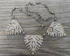 Vintage Rhinestone Buckle Necklace Vintage Repurposed by Vinchique, $138.00