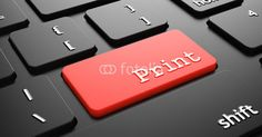 """Print on Red Keyboard Button """"Enter""""."""
