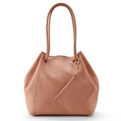 Unlined Drawstring Tote with Pouch