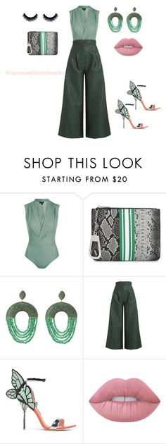 """""""Ivette's Style"""" by ivette-mamii-zerquera ❤ liked on Polyvore featuring Topshop, Skinnydip, Latelita, Natasha Zinko, Sophia Webster and Lime Crime"""