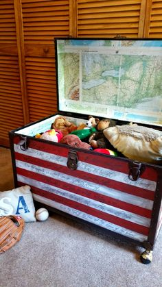 Redo It Yourself Inspirations : Star Spangled Banner Trunk
