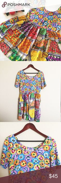 """Jams World bright multicolor print dress Beautiful bright multicolor print dress by Jams World. Size Small. Measures: armpit to armpit 18.5""""// shoulder to bottom 33.5"""". *NOTE last photo for a very small spot on the fabric that blends in with the print and doesn't affect the look or function of the dress.* Gently worn and in great condition. Please ask questions 💫 Jams World Dresses"""