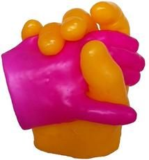 Couple holding hands pink and yellow wax hand. Please visit our website at WWW.COM for information on how you can make your waxed hand! Couple Holding Hands, Hand Wax, Stuffed Peppers, Make It Yourself, Vegetables, How To Make, Crafts, Website, Yellow