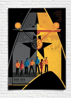 The Original Star Trek Series  James T Kirk   Poster by bensmind, $19.99