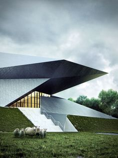 Festival Hall of the Tiroler Festspie Erl | Delugan Meissl Associated Architects Render by - Polynates