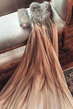 Sexy A-line Sweatheart Beading Prom Dress Long Evening Dresses