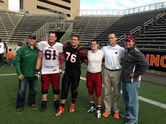 Del coaches and alumni collegiate players tailgated after the Princeton v. Lafayette game on October 12, 2013 at Princeton Stadium. Go Wave!