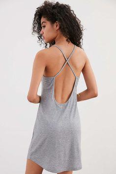d75a8259de8f Silence + Noise Cross-Back Ribbed Knit Mini Dress Urban Dresses