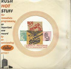 CAPITOL PROMO RARE VINTAGE ORIGINAL COMPANY FACTORY 45 RPM RECORD SLEEVE