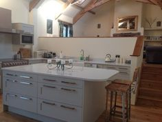 Large Barn With Sea Views From Garden. 7 Minutes to the Beach Cabin Rentals, Ideal Home, Kitchen Cabinets, Barn, 7 Minutes, Vacation, Devon, House, Sea