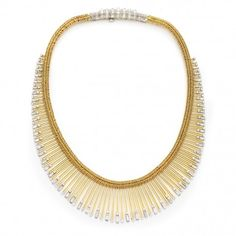 Diamond fringe necklace by Pierre Sterlé, circa 1950