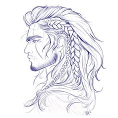 Fantasting Drawing Hairstyles For Characters Ideas. Amazing Drawing Hairstyles For Characters Ideas. Final Fantasy Xv, Fantasy Art, Drawing Sketches, Art Drawings, Drawing Faces, Art Du Croquis, How To Draw Hair, How To Draw Scars, Character Design Inspiration
