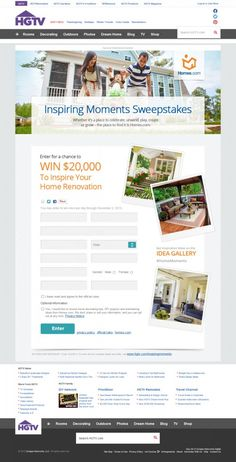 Win $20,000 for home renovations from @Homes.com.