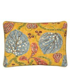 William Yeoward Astasia Orchre Throw Pillow | Designers Guild