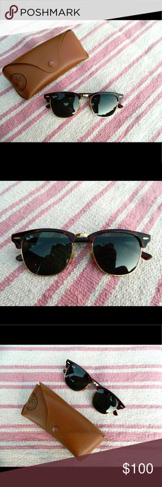 f58bfa95ab1 Ray-Ban ClubMaster Classic Sunglasses Frame Material  Acetate Frame Color   Tortoise Lenses  Green Classic G-15 Ray-Ban Accessories Sunglasses