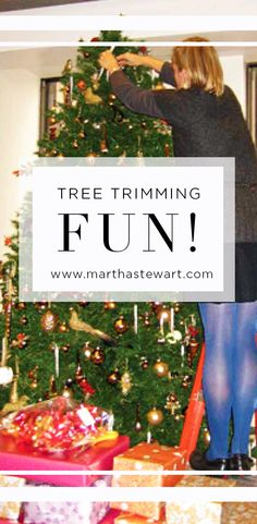 Tree Trimming Fun | Martha Stewart Living