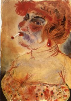 Puffmutter * (Brothel Mother), ca. 1923 Otto Dix,
