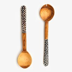 Olive Wood Serving Spoon Set