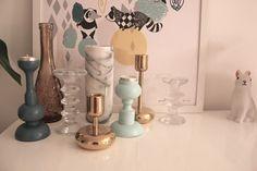 Spraymaalatut kynttilänjalat (aarikka), maalit Pengerkatu Geezers