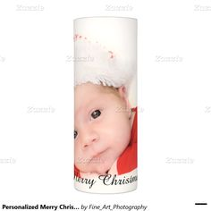 Personalized Merry Christmas Add Your Photo Flameless Candle This led candle features a background photo templates for your special photographs. Text can be changed to any special message ! Great holiday gift!