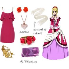 """""""Lucy Heartfilia's Dress Closplay"""" by closplaying on Polyvore"""
