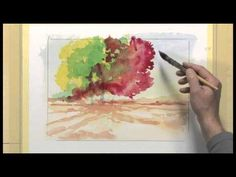 Bettags-Malschule - Mein erstes Aquarell - Die Lasur - YouTube