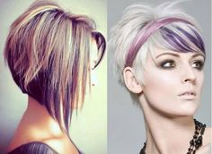 Pixie Haircuts for Round Faces PURPLE!