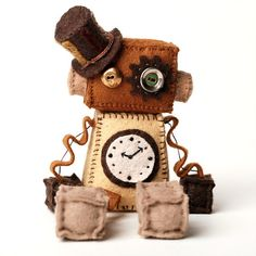 Hey, I found this really awesome Etsy listing at https://www.etsy.com/listing/159156785/steampunk-robot-plush-doll-with-vintage