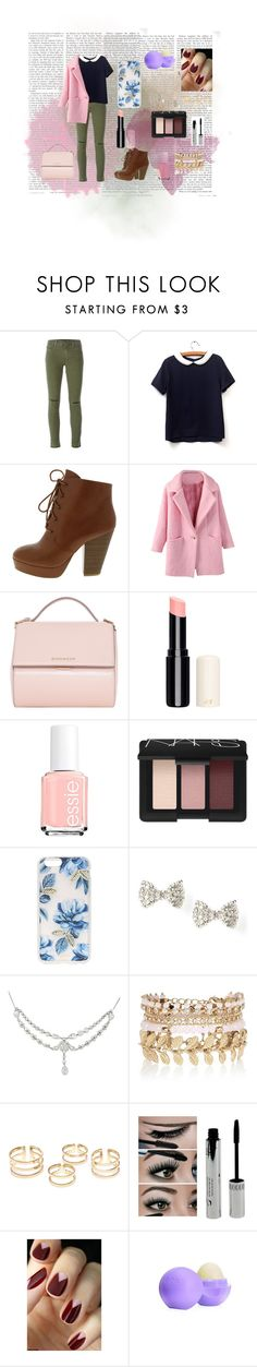 """Random outfit"" by micaj on Polyvore featuring J Brand, Givenchy, Essie, NARS Cosmetics, Sonix, River Island, Eos, women's clothing, women's fashion and women"