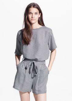 Blusa quadrados Vichy
