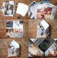 Borsello con magazine riciclato ... geniale!!!