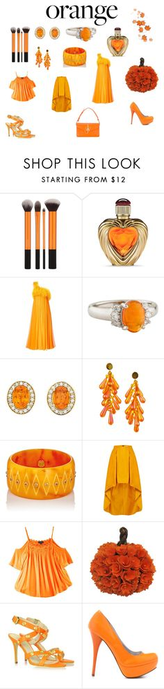 """""""Orange"""" by yaj-chue ❤ liked on Polyvore featuring beauty, Victoria's Secret, Nina Ricci, Mark Davis, My Michelle, Versace, Veda Soul and J.W. Anderson"""