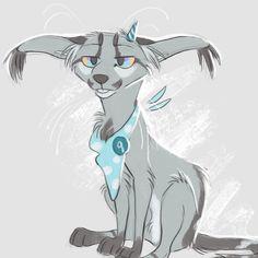 """819 次赞、 32 条评论 - Chloe (@finchwing) 在 Instagram 发布:""""I made this dumb grey cat 9 years ago and she still won't go away"""""""