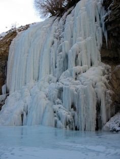 In suspended animation!! A frozen cascade near the village of Nyerag, on the Chadar trail is just awe inspiring.