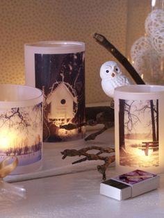 Die DIY-Idee können Sie ganz nach Ihrem Geschmack umsetzen. Ob Sie die Windlichter mit Fotos Ihrer Lieben verzieren oder mit Schnappschüssen vom letzten romantischen Spaziergang bleibt ganz Ihnen überlassen.