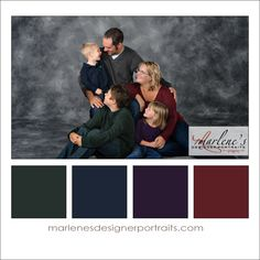 Dark Jewel Tones: Green, Blue, Purple and Burgundy Colour Palette