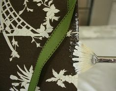 How to cover lampshades with fabric and trim, no sewing required, DIY.