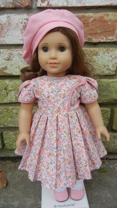 """Lot of 18"""" Doll Clothes -Fancy Dress & Beret -Fits American Girl -Rebecca, Kit"""