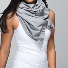 Lulu Vinyasa Scarf Gray. Terry cotton. I do not trade. Great condition. Maybe wore twice. lululemon athletica Accessories Scarves & Wraps