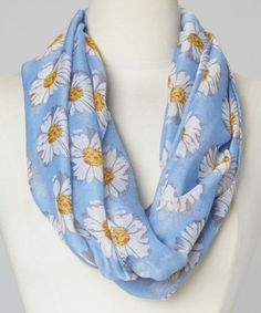 Love this Blue Daisy Infinity Scarf on #zulily! #zulilyfinds