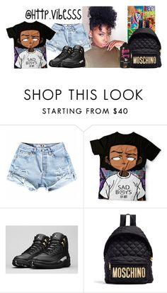 """""""Untitled #888"""" by jazaiah7 ❤ liked on Polyvore featuring NIKE and Moschino"""