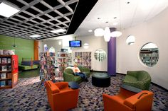 Spartanburg Library Headquarters by McMillan Pazdan Smith Architecture - Teen reading area