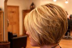 Cute layered bob haircut.