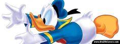Donald Duck Running Facebook Cover