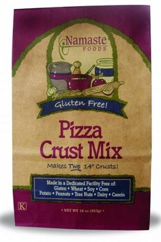 Favorite GF Products: Namaste Pizza Crust Mix. By far the best crust I've found.  Makes gluten-free pizza crust infused with yummy herbs and spices, which means it doesn't taste like cardboard. ;-)