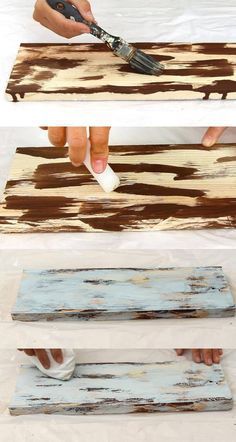 How To Distress Wood & Furniture Easy Techniques & Videos . How to Distress Wood & Furniture EASY Techniques & Videos diy wood painting techniques - Diy Techniques and Supplies Diy Wood Projects, Wood Crafts, Woodworking Projects, Woodworking Techniques, Woodworking Plans, Popular Woodworking, Woodworking Furniture, Woodworking Supplies, Garden Projects