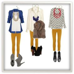 Ok,usually I HATE colored pants,but Im seriously craving mustard colored pants,and cardigans.and scarfs. Mustard Jeans, Mustard Yellow Pants, Fashion Moda, Work Fashion, Womens Fashion, Casual Outfits, Cute Outfits, Fashion Outfits, Fall Winter Outfits