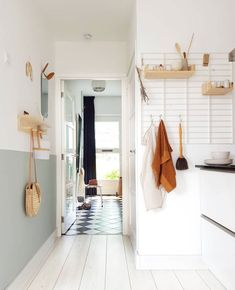 danish modern kitchen with wall storage. / sfgirlbybay