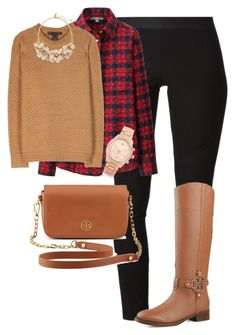 """Preppy Fall Outfit"" by nevadapruitt ❤ liked on Polyvore featuring Helmut Lang, Uniqlo, Marc by Marc Jacobs, The Limited, Tory Burch and Michael Kors"